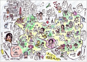 彼岸島 観光マップ