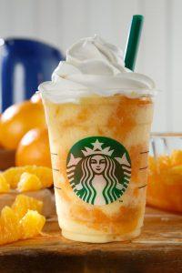 クラッシュオレンジフラペチーノ 画像