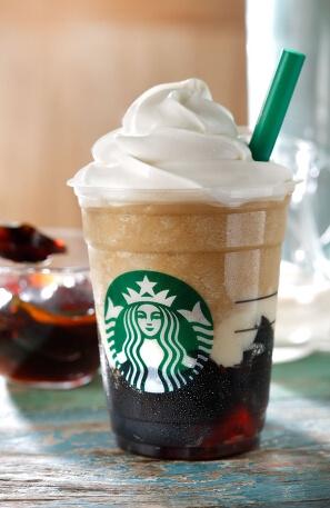 コーヒー ジェリー & クリーミー バニラ フラペチーノ 画像