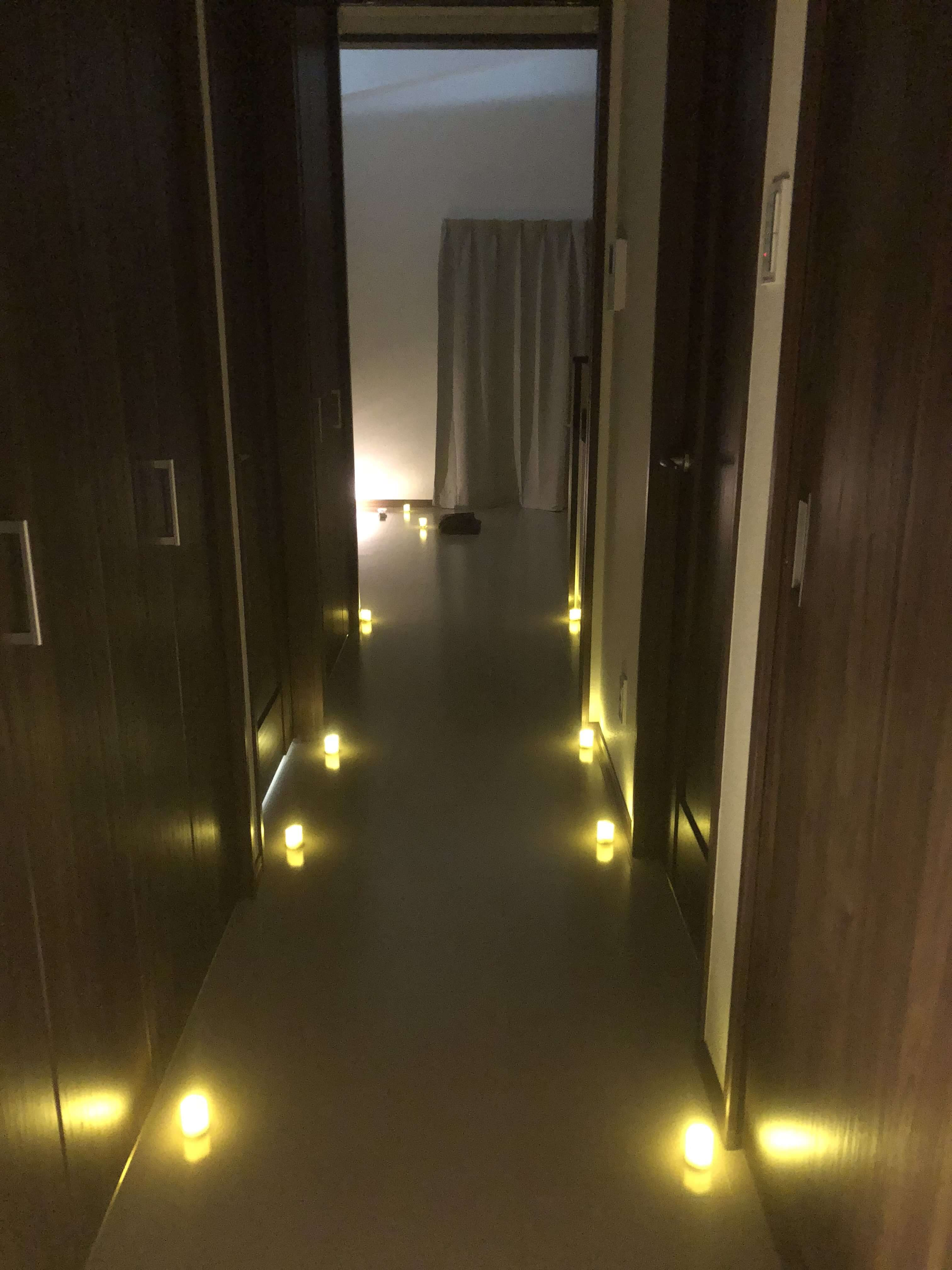 沖縄イメージ瞑想の中の様子廊下
