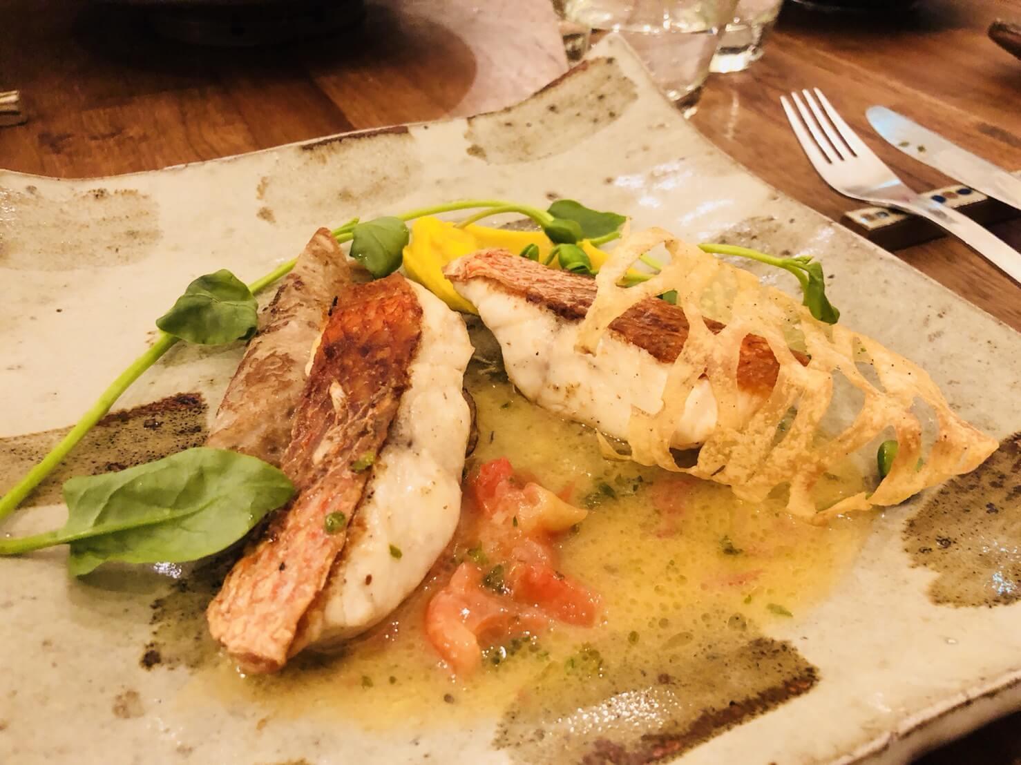 プチットリュのメインの魚